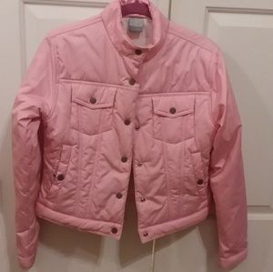 Youth pink bomber like Nike jacket, girls sz 8-10